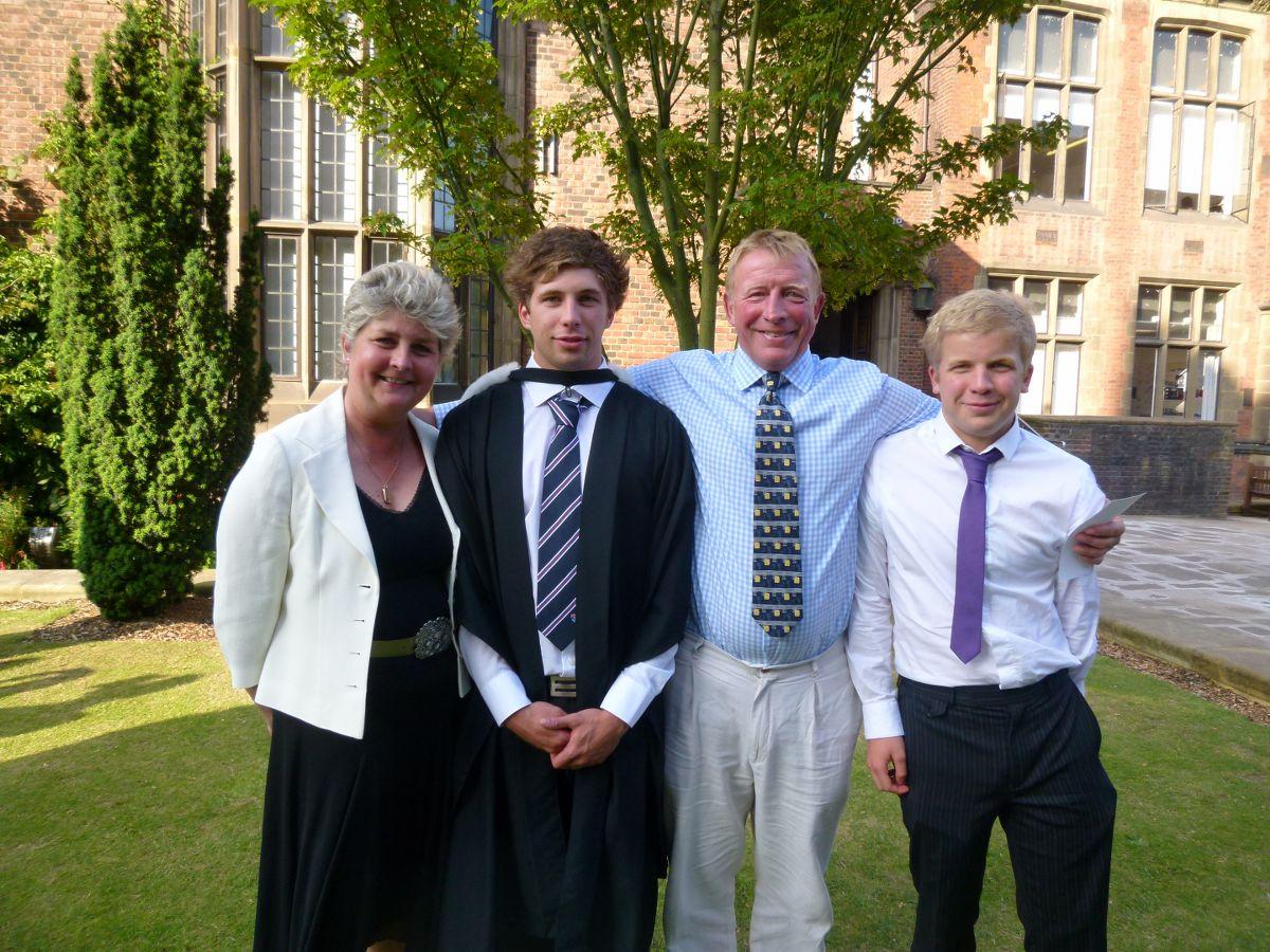 Nicki, Sam, Patrick & Rob at Sam's Graduation